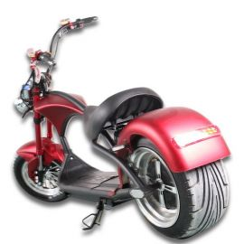 Scooter Citycoco Harley T-cruiser Noir 2 Place 2000W Ultra Puissante Homologué